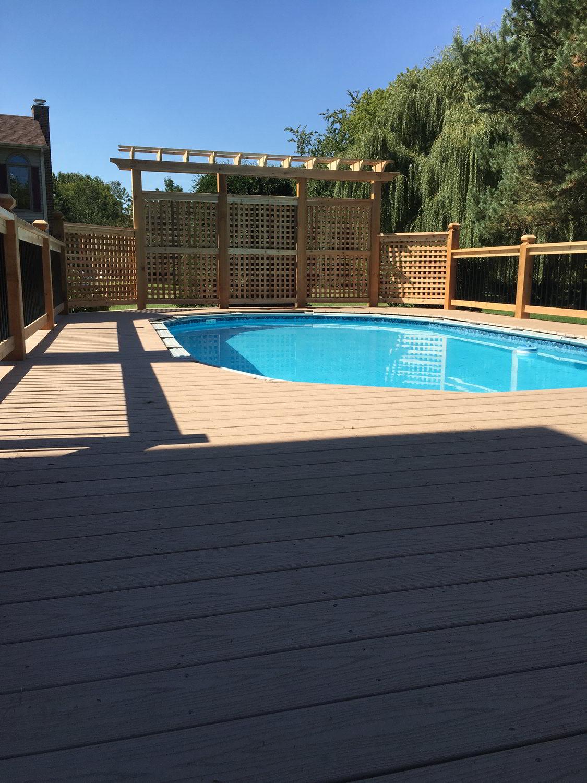 AZEK Pool Deck Installation