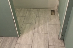 Bathroom floor remodel