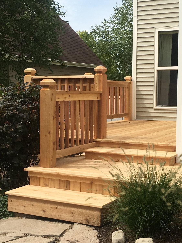 Cedar Wood Deck Construction