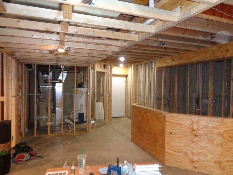basement finishing remodeling framing mchenry il brad